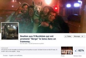 Page Facebook Sergelelama soutient